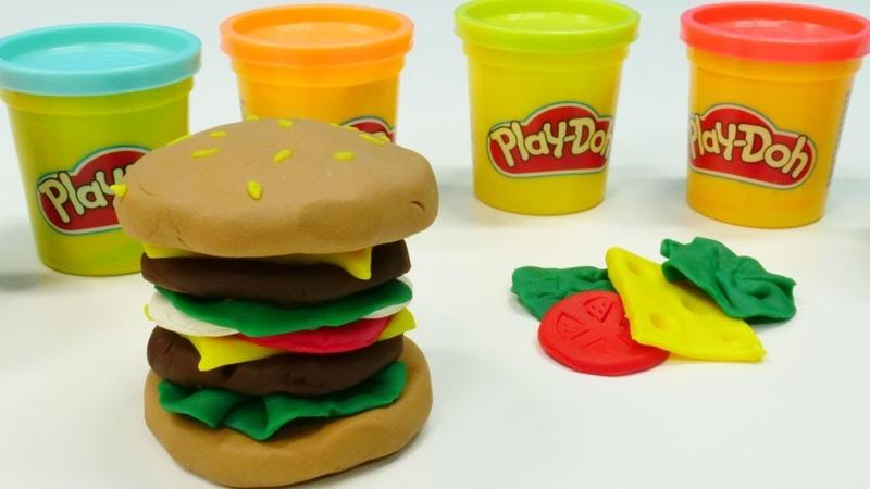 Play-Doh oyun hamuru ile hamburger