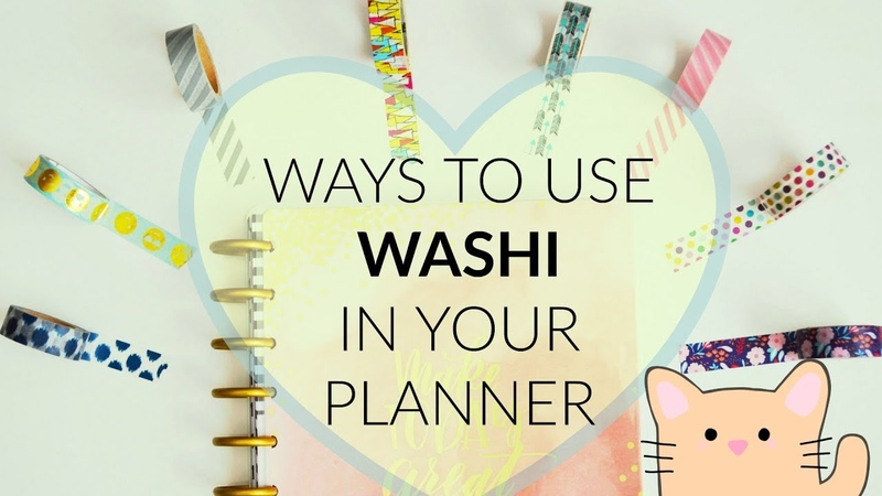 How to Use Washi in your Planner (Closed) Giveaway