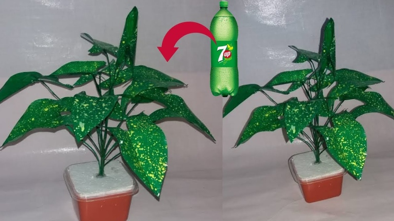 How to make plastic bottle tree \\ Crafts With Plastic Bottle   dustu pakhe
