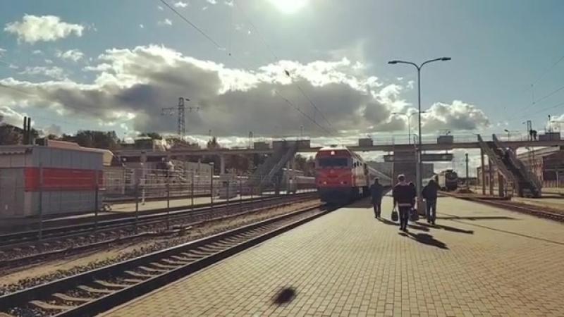 TEP70BS 004 Поезд № 31 Рига Киев Чотири столицi cт Вільнюс