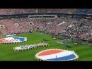 Франция - Хорватия. Финал чемпионата мира по футболу 2018. Выход команд на поле