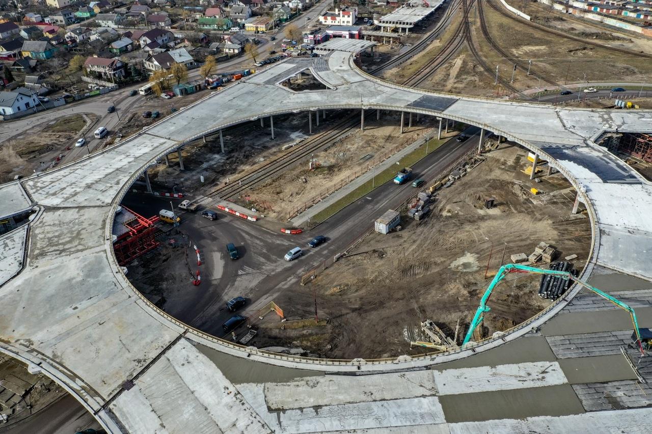 """Посмотрите панораму """"Строительство Западного обхода"""""""