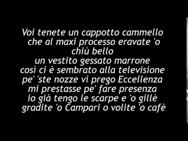 Fabrizio De andrè - Don Raffaè. con testo