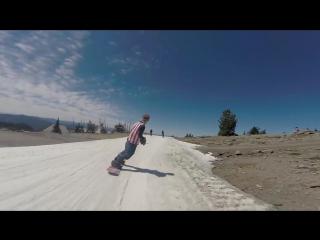 Сноубординг летом на горе Худ