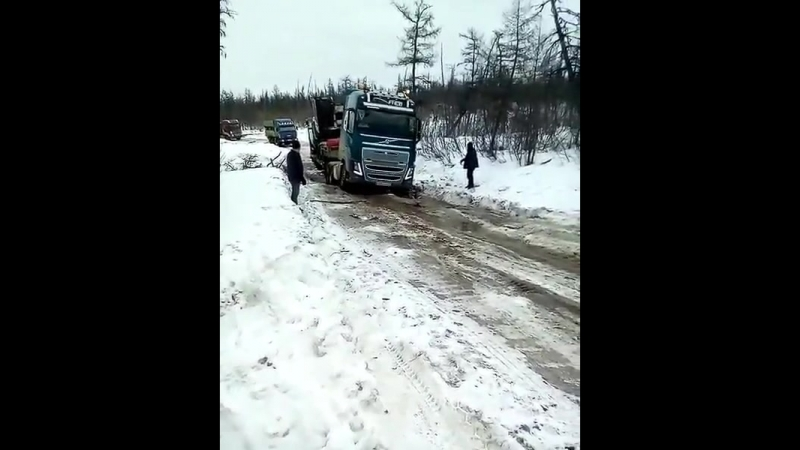 Volvo fh16 700 на зимнике