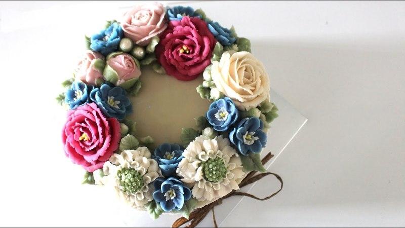 (vk.com/lakomkavk) Бобовая паста. Цветы из бобовой пасты. beanpaste flower piping