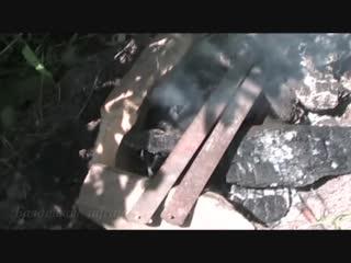 Раскол и передвижка камней с помощью вибрации
