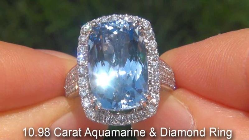 Cushion Cut Aquamarine Ring