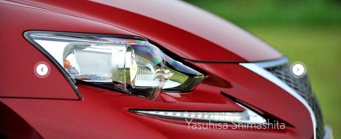 Передние фары Lexus IS 2014