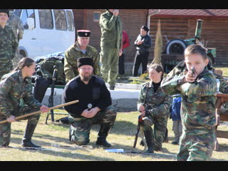 Сокращенное показательное выступление Кубанского казачьего центра Баско в ст.Даховской