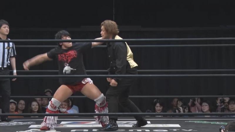 Jason Kincaid, Mizuki Watase vs. Mad Pauly, Nobuhiro Shimatani (DDT - Road to Ryogoku 2018 ~ Dramatic Dream Tokei-dai)