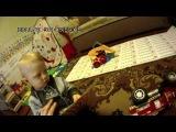 Весело играя, маленький Миша (1 год и 5 мес.) показывает результаты занятий по математике
