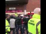 United fans singing Ohhh Robin van Persie outside the away section