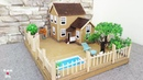 Building Cardboard Dream House With Fairy Garden And Pool Easy Crafts Ideas