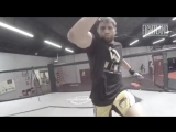 The Flying Double Knee With Carlos Condit_ Fight School