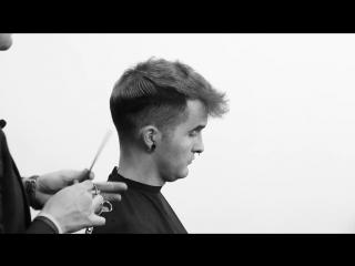 Помпадур на кудрявых волосах | Cutting curly Mens hair - mens haircut - clipper cut
