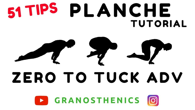 Da ZERO a PLANCHE Tuck Advance 51 Esercizi CALISTHENICS TUTORIAL