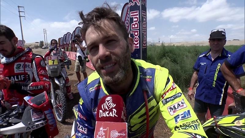 Summary Bike Quad Stage 9 Pisco Pisco Dakar 2019