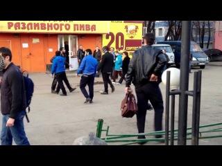 Драка в Люберцах,кавказцы получили,чурки,кавказ,русские,крысы втроём на одного,трусы,черножопые