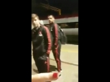 Geezer bumps into Man Utd players getting the train home and things turn a bit nasty