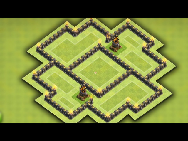 Clash of clans - Town hall 6 Farming base (TH6 Hybrid) - New update 2nd Air Defense 2016