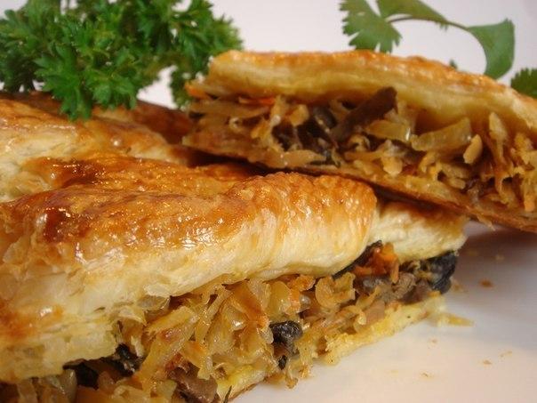 Пирог из капусты квашеной в духовке рецепт