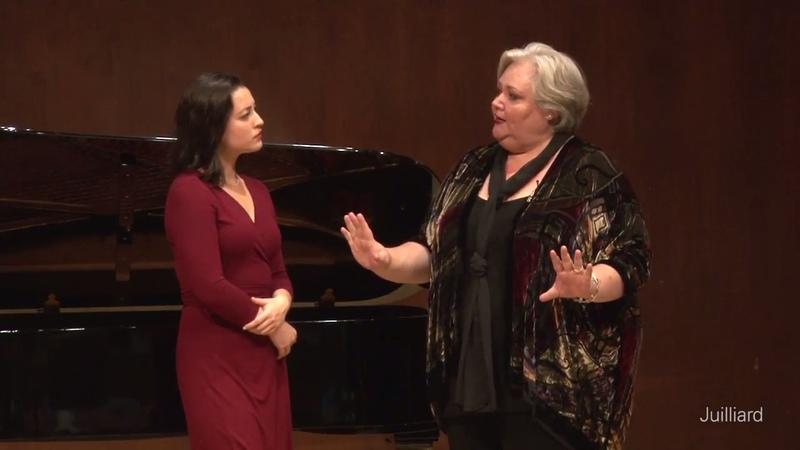 Kelsey Lauritano, mezzo-soprano Michał Biel, piano | Juilliard Stephanie Blythe Master Class