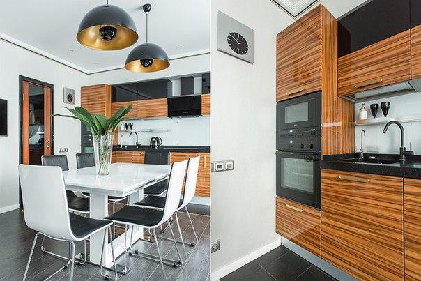 Замечательный интерьер трёхкомнатной квартиры для большой семьи.