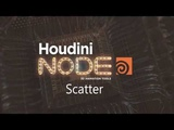 Houdini Scatter node tutorial (RUS)