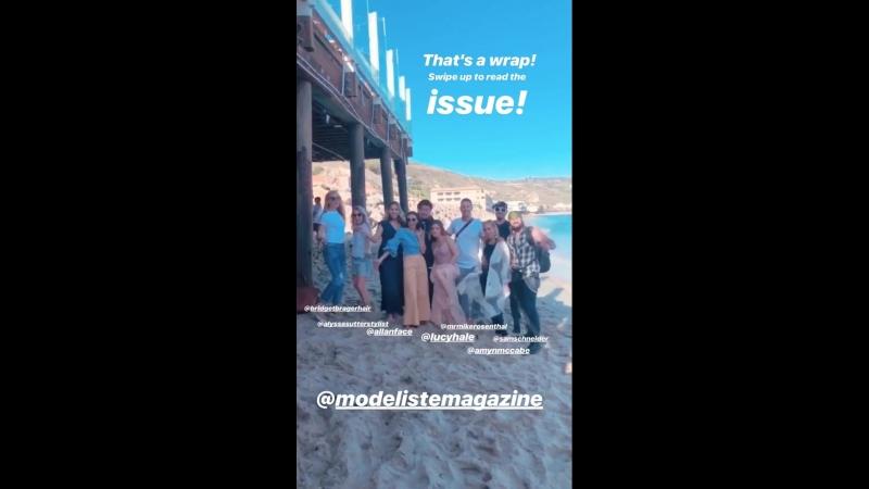 Modeliste Magazine's Instagram Stories 15.05.18