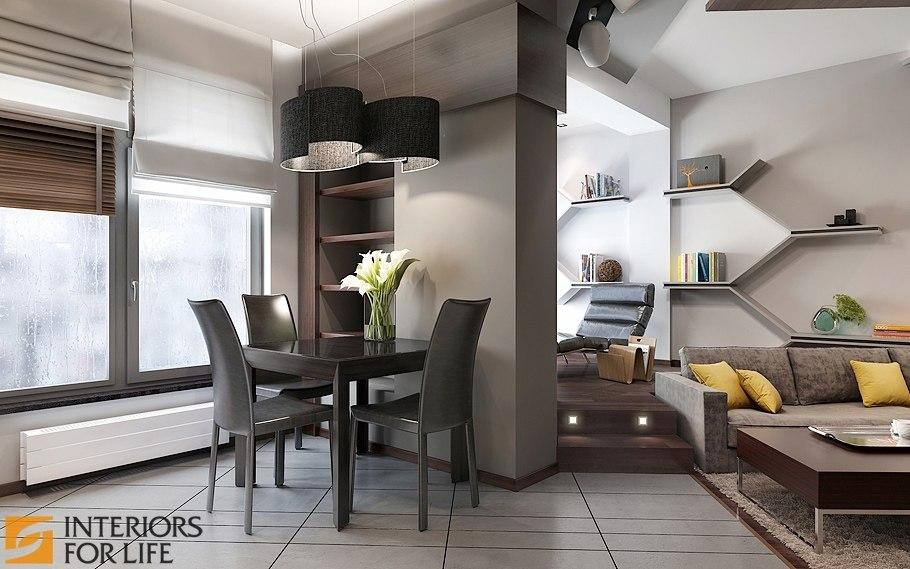 Дизайн однокомнатной квартиры 43