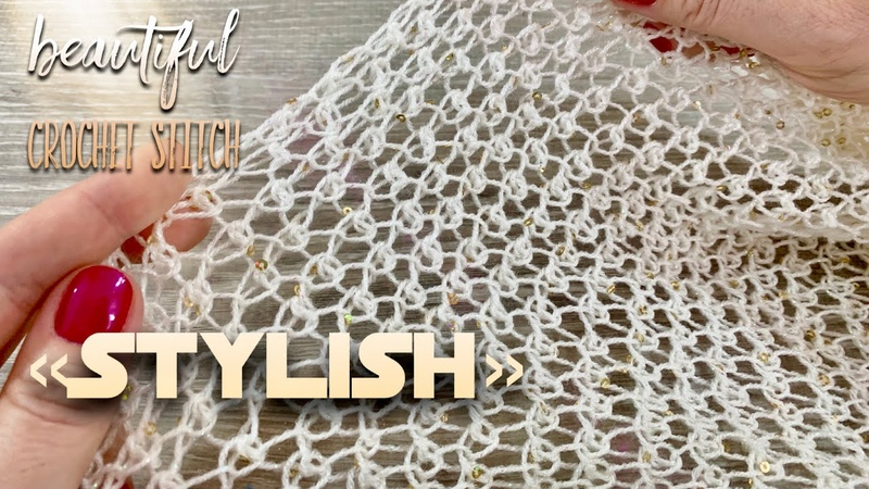 Вяжем узор крючком STYLISH для джемпера 🌟 Beautiful Crochet Stitch Pattern