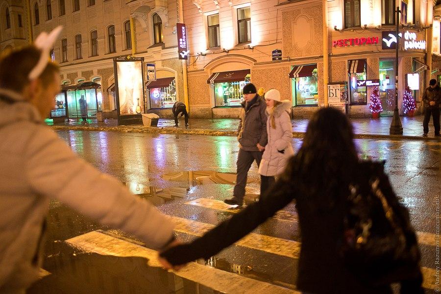 Санкт-Петербург Новый год Невский проспект