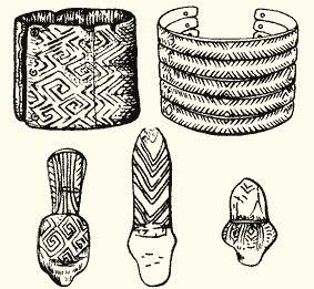 Браслет со свастическим орнаментом. Мезинская стоянка 15000 лет назад. (официальная хронология)