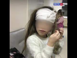 В Долгопрудном на ребенка упал кирпич