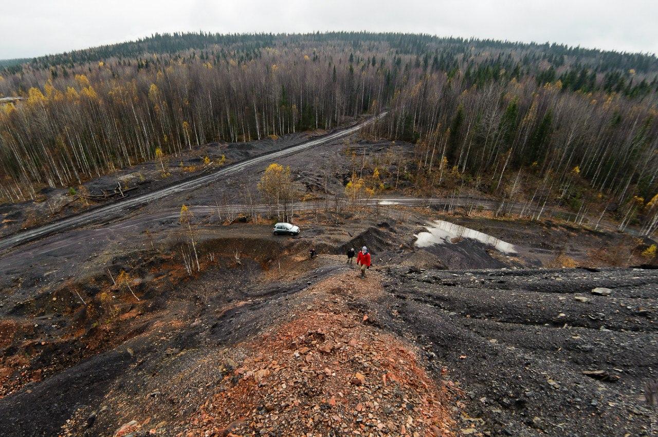 Угольный отвал шахты имени 40 лет октября (ранее Усьва 1-2)