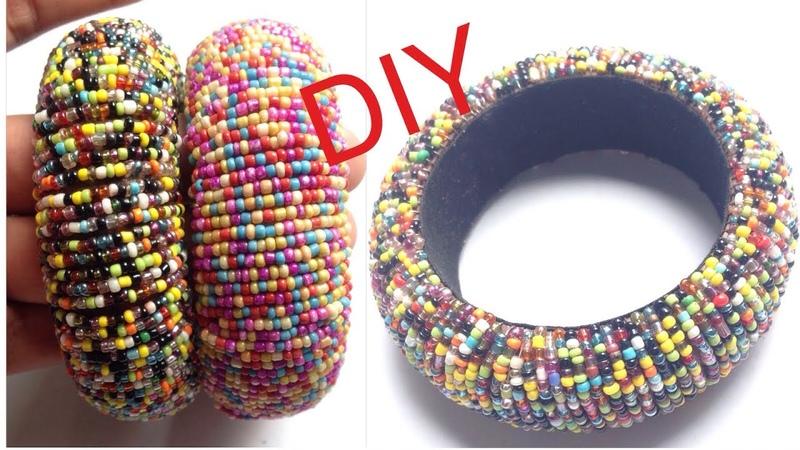 DIY Silk Thread Bangle! How to Make Seed Bead Bangles At Home! Latest silk thread bangles