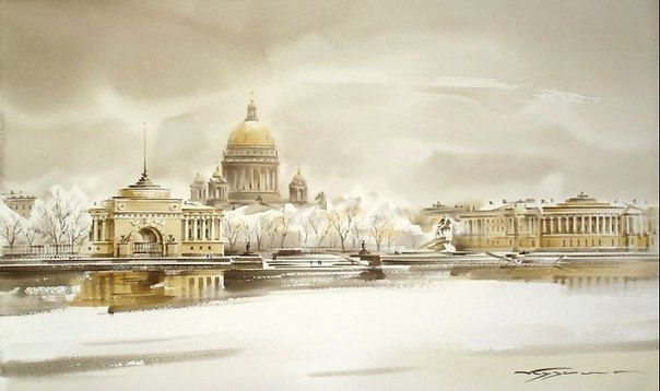 Завораживающий Петербург в картинах Константина Куземы