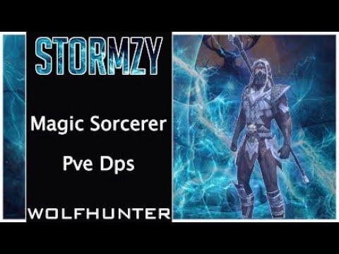 Magic Sorcerer no pet Pve Dps Build Wolfhunter (Stormzy) ESO