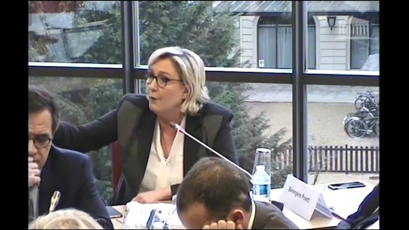 Marine Le Pen intervient sur Mayotte en commission