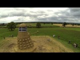 Giant Dalek sculpture invades Cheshire field
