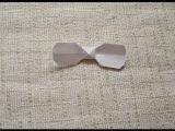 Как просто из бумаги сделать бант, бантик в технике оригами, мастер-класс