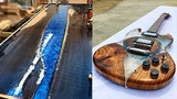 10 MOST Amazing Epoxy Resin and Wood River Table ! Awesome DIY Woodworking Projects and Products #2