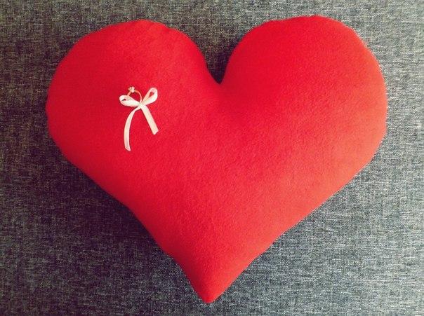 Подушечка в виде сердца