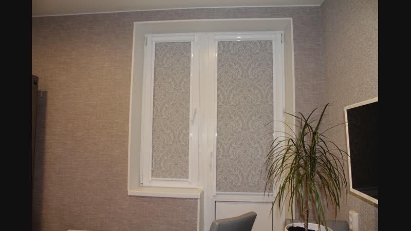 Рулонные шторы Uni2 ткань Венеция - Стрельна, Львовская 19к2
