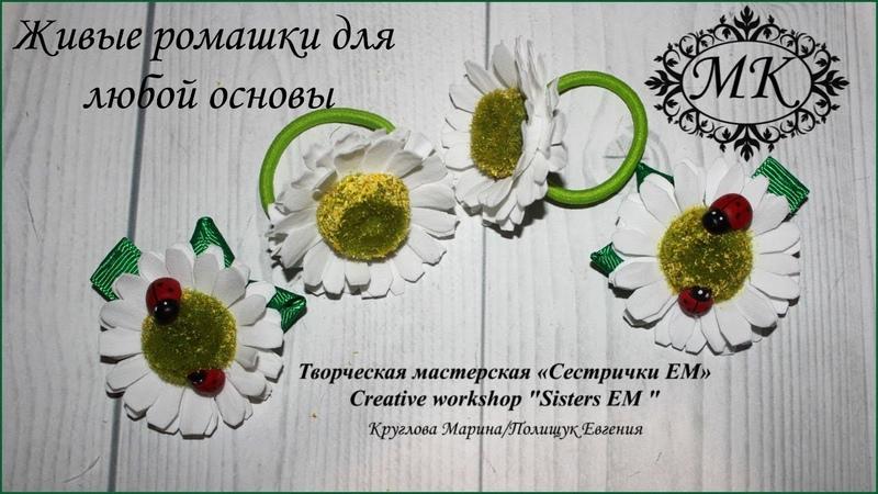 Живые ромашки из фоамирана для любой основы. DIY Live daisies from foamiran