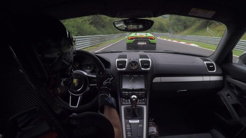 Porsche GT4 Lamborghini Huracan Performante Nordschleife.