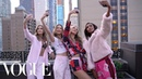The Victoria's Secret Angels' Plaza Hotel Sleepover Vogue