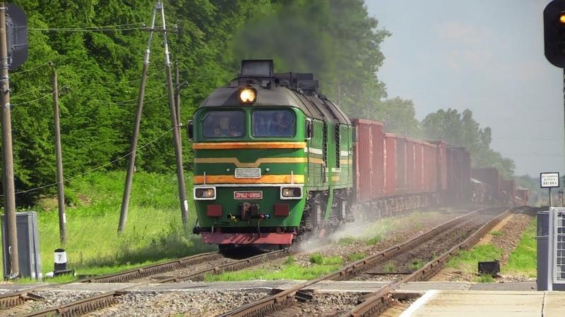 [БЧ] Тепловоз 2М62-0956 на о.п. Любашево / [BCh] 2M62-0956 at Lyubashevo stop