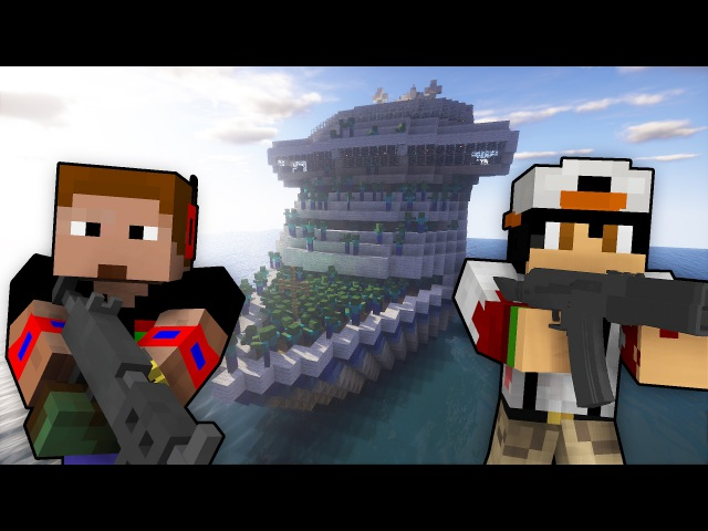 Куча зомби Корабль с Зомби в Майнкрафт Апокалипсис